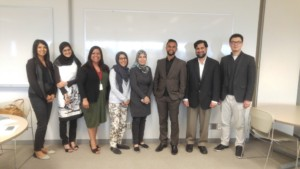 Nadia Hasan (Project Manager), Fatima Ahmed (Interviewee), Vidya Shah (Faculty of Education York University), Farrah Marfatia (Principal Maingate Academy), Nora Hindy (Teacher, Peel District School Board), Sultan Rana (Curriculum Developer), Jawad Jafry (Director), Steven Zhou (MC event, TTI Board)